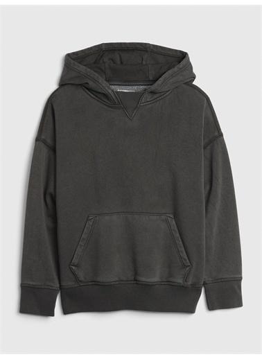 Gap Genç Erkek   Kapüşonlu Sweatshirt Lacivert